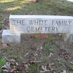 The White Family Cemetery, though adjacent to the Panthersville Cemetery, is a separate burial ground.