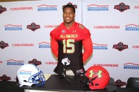Tucker defensive lineman Jonathan Ledbetter was presented with an honorary jersey for the 2015 Under Armour All-American Game. Photos by Travis Hudgons