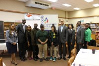 Communities in Schools of Atlanta representatives and supporters with McNair staff and students.