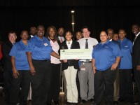 DeKalb Early College Academy and Elizabeth Andrews High School received a $1,000 for winning second place in the recycling competition.