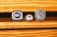 The 2014 championship rings of Redan girls, Tucker girls and Miller Grove boys. Photos by Travis Hudgons