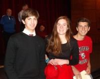Ben Sigel (baseball), Hannah McCarty (volleyball) and Patrick Wilkerson (soccer) all signed with Rhodes College. Photo by Carla Parker
