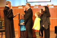 Stan Jester sworn into the Board of Education