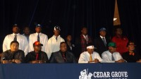 Cedar Grove had 12 football players to sign on National Signing Day. Photo by Carla Parker