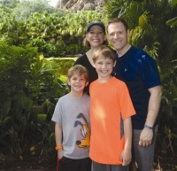 Jason and Leanne Kaplan and their sons have visited all of the Disney theme parks in Florida including Animal Kingdom, Epcot and the Magic Kingdom. Photo provided.