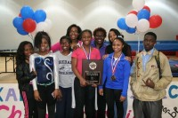 The Redan Lady Raiders won the DeKalb County Gymnastics title after scoring 86.5 points.