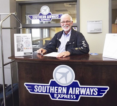 Southern Airways customer service counter in Memphis
