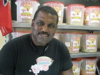 Larenzo Reid stocks approximately 25 flavors of popcorn in addition to ice cream, Italian ices and other goodies.