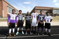 The Miller Grove Wolverines sport their home and away jerseys.
