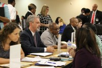 DeKalb County School District principals and staff interview potential teachers for the 2015-2016 school year.
