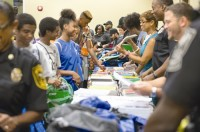 Students collected donated school supplies. Photos by Justin Beaudrot