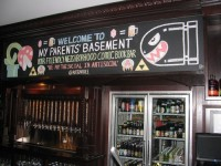 The bar features 29 on tap beers, many local craft brews.