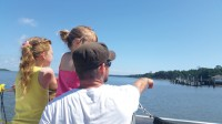 Nature and history  highlighted on boat tour