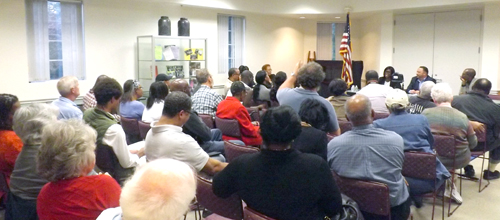 Nearly 50 residents attended the Lithonia candidates' forum.