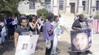 Earlier this year protestors demand justice in the police-involved shooting Anthony Hill, who was naked and unarmed at the time.
