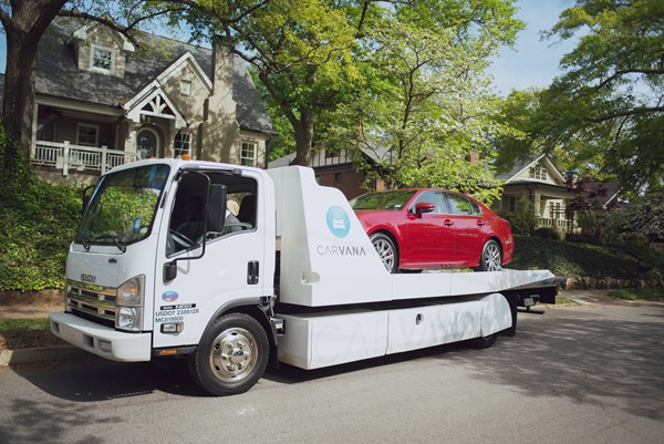 Cars selected online can be delivered to the customer's home.