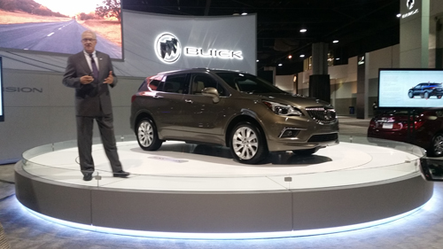 The 2016 Buick Envision is a compact luxury SUV.
