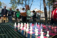 Friends of Flat Shoals Park raised $3,600 to purchase two chess tables. Photo provided