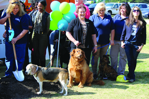 Several dogs were on hand for the groundbreaking of the county's new shelter. Photos by Andrew Cauthen