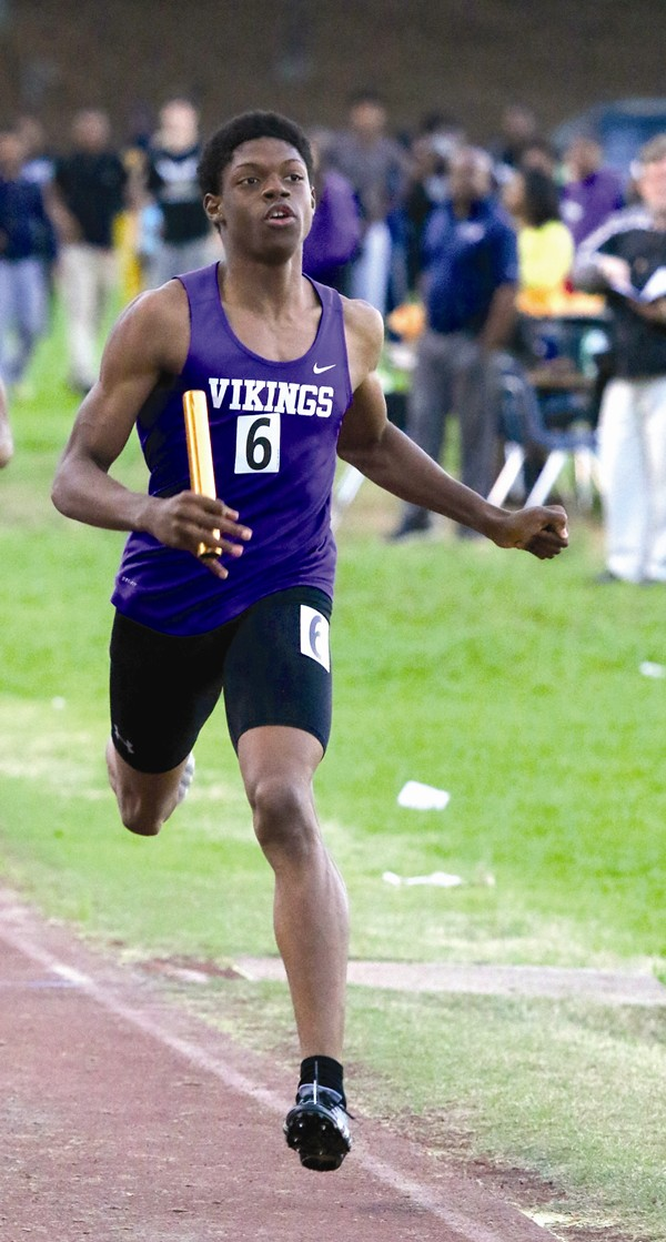 Herron is looking to lead Lakeside to its first track-and-field state title in 42 years. Photos by Travis Hudgons
