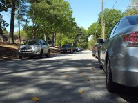 Double-parking issues in a residential neighborhood along Raymond Drive in Doraville has residents requesting action from the city council. Photo by R. Scott Belzer