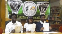 Three Greenforest basketball players signed letters of intent to their perspective schools on April 15. Photos by Carla Parker