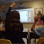 Students at Annunciation Day School demonstrated how the Promethean ActivWall can change the way classrooms are run through interactive technology. Photos by R. Scott Belzer