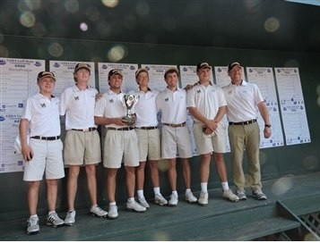 Marist boys won their fifth consecutive state golf title. Photo from marist.com
