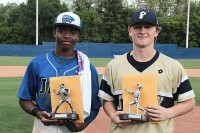 Stephenson's Chrestian Adams was named the East MVP and St. Pius Kennet Sorenson was named the West MVP. Photo by Mark Brock