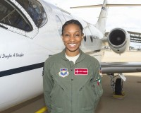 Jazmind Roberts, a Towers High School graduate, is the first Black female to graduate from Pilot school in the past 10 years. Photo provided