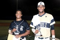 Redan's Walter Jordan was named the East MVP and St. Pius' Garrett Gooden was named the West MVP. Photo by Mark Brock