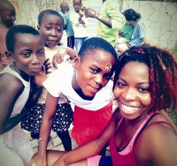 Aniya Hamilton said the best part about studying in Ghana is interacting with local children.