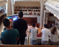 A packed crowd in Oxford's Cannon Chapel came to honor the lives of two students who were killed in terrorist attacks in Bangladesh July 1. Photos by Horace Holloman