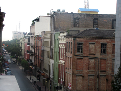 "An overlook of New Orleans' ""main street"" Canal Street."
