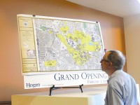 A map of Emory shows potential boundaries for annexation. Photos by Horace Holloman