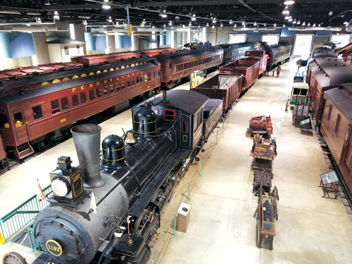 More than 100 locomotives and cars are on display at the Railroad Museum of Pennsylvania.