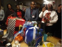 Volunteers and community members dropped off goods and supplies to firefighters Dec. 22 as part of the Random Acts of Kindness Bus Tour. Photos by Horace Holloman