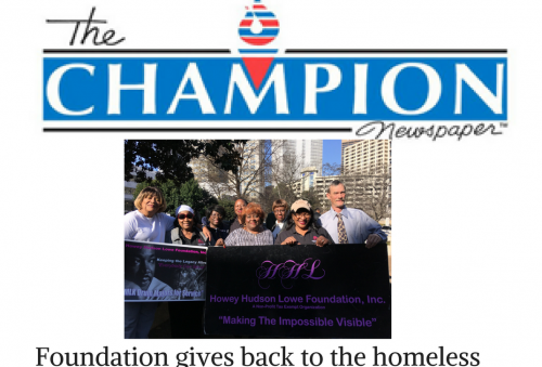 Foundation gives back to the homeless