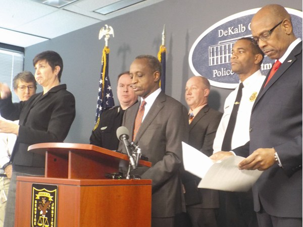 County officials held a winter weather press conference Jan. 5 to inform residents that a plan was in place in case of an emergency situation. Storm forecasts predicted some parts of DeKalb County could get up to four inches of snow.