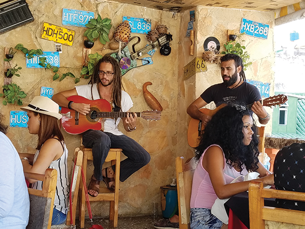 A duo performs mid-day at La Familia in Old Havana. Photos by Gale Horton Gay