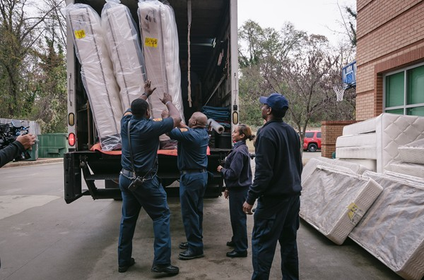 Beautyrest donated mattresses to first responders of the DeKalb Fire and Rescue Department. Over the past two years Beautyrest has donated 235 mattresses to the department.