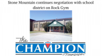 Stone Mountain continued negotiations with the DeKalb County School District on the use of the Historic Rock Gym.