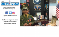 Kindergarten student dresses as Colin Powell, receives feedback from American hero