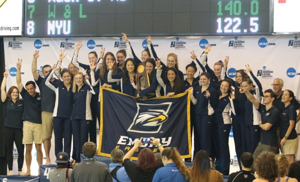 The Emory men's and women's swim and dive team won the Division III national championship.
