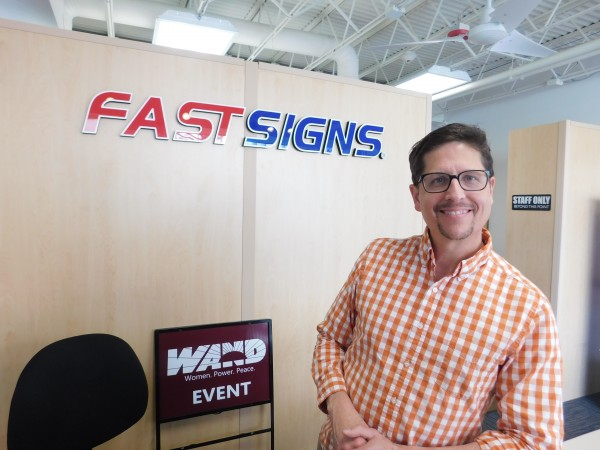 Owner Randall Bloomquist says he chose to put his FASTSIGNS franchise in the heart of the Decatur business district.