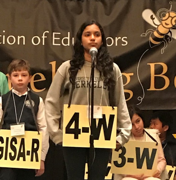 Druid Hills Middle School student Aditi Shankar competed at the 56th Annual Georgia Association of Educators State Spelling Bee on March 17 and was eliminated in the 9th round.