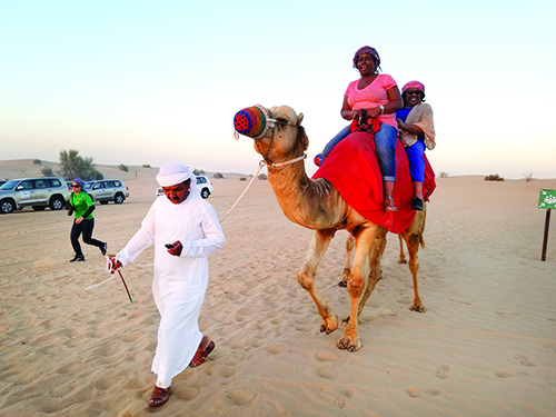 A camel ride in the desert is a popular tourist experience in Dubai. Photos by Gale Horton Gay