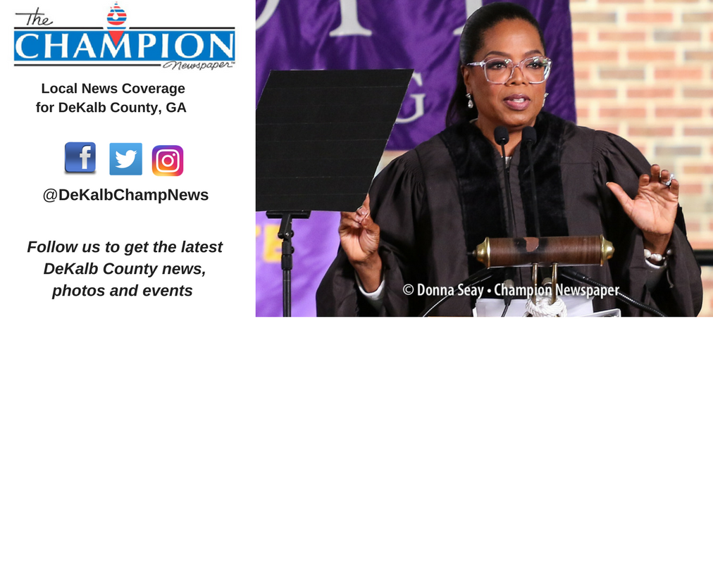 Oprah Winfrey spoke at Agnes Scott College's 2017 commencement ceremony to an audience of thousands.
