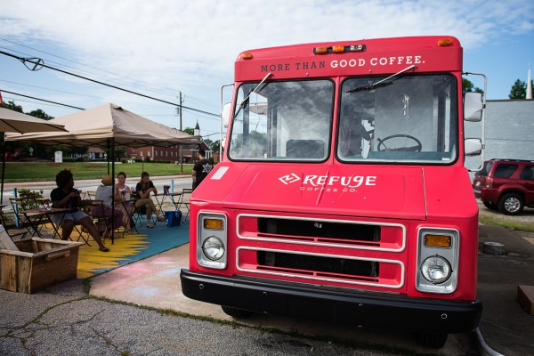 Refuge Coffee Company set a goal of raising $460,000 in 60 days to purchase the property it operates on, located at at 4170 E. Ponce de Leon Ave NE in downtown Clarkston. Photo submitted.