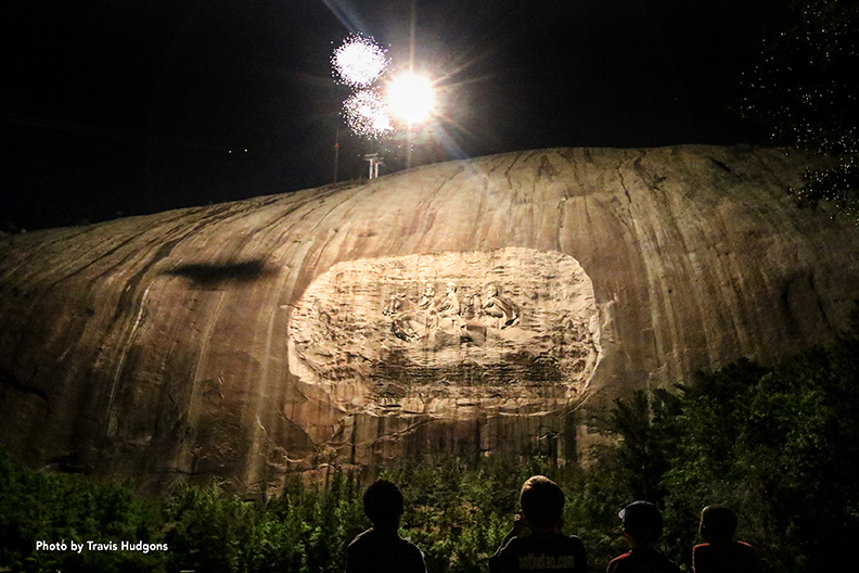Fireworks at Stone Mountain Park. Photo by Travis Hudgons